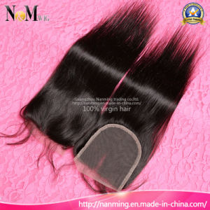 10/12/14/16/18/20 Inch Bleached Knots Brazilian Straight Lace Closure Human Hair pictures & photos