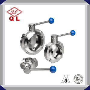 Welded Sanitary Stainless Steel Butterfly Valve pictures & photos