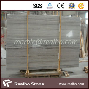 Hot Sale Polished China Light Grey Wooden Marble Slabs