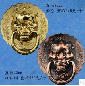 Door Handle with Chinese Antique Style, Kirin Haed pictures & photos