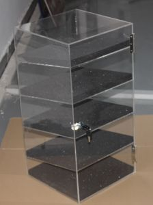 "Acrylic Lucite Showcase Jewelry Pastry Bakery Counter Display W/Door & Lock (12"" X 6"" X 19""H) pictures & photos"