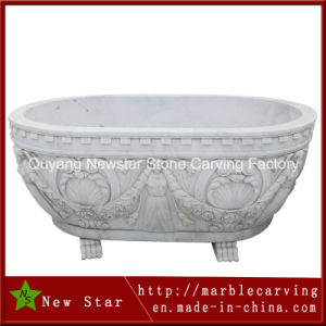 White Marble Bathtub for Bathroom pictures & photos
