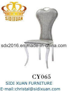 Grey PU Stainless Steel Legs Modern Dining Chair pictures & photos