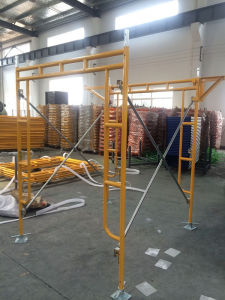 """5′x6′4"""" Frame Scaffolding Set Yellow Powder Coated pictures & photos"""