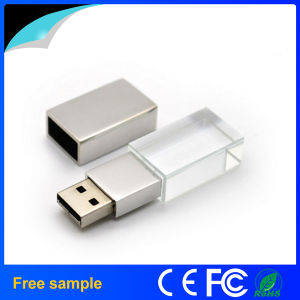 Free Sample Custom Engraving Logo Crystal USB Flash Drive 8GB