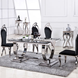 Big Size Marble Dining Table and Chairs pictures & photos