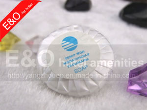 Pleated Wrapped Round Natural Hand Made Hotel Soap pictures & photos