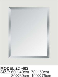 Interior Decoration Rectangle Shape Silver Glass Mirror pictures & photos