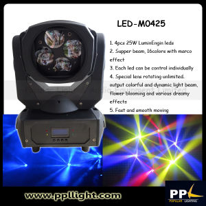 4PCS 25W RGBW 4in1 LED Beam Moving Head Disco Light pictures & photos