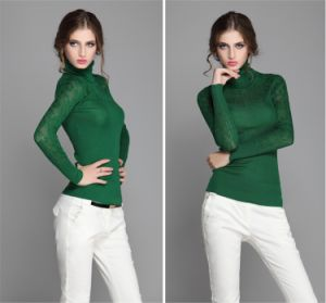 T1114 High-End Pullover Skinny Sweater with Hook Flower for Ladies pictures & photos