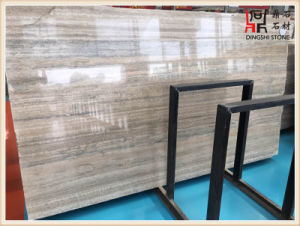 Building Material Color High Quality Silver Grey Travertine Slabs for Wall Decoration pictures & photos