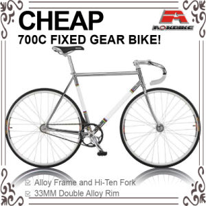 Cheap Hi-Ten Chrome 700c Fixed Gear Bicycle (ADS-7066S) pictures & photos