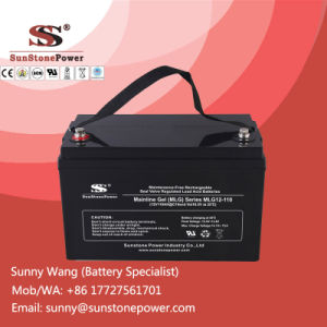 Renewable Energy Storage Gel Battery 12V 110ah for off-Grid Solar System pictures & photos