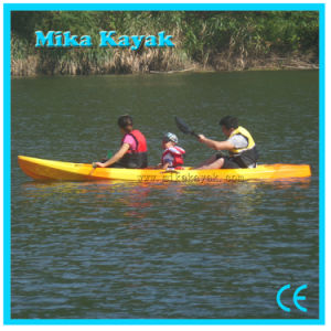 3 Person Plastic Canoe Sit on Top Kayak Fishing Boat Sale pictures & photos