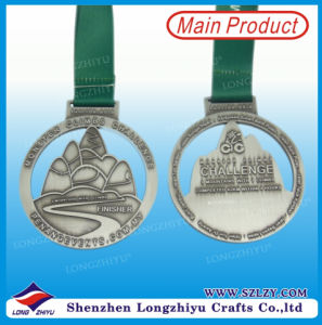 Customised The Medal Antique Silver Cutout Climbing Hill Award pictures & photos