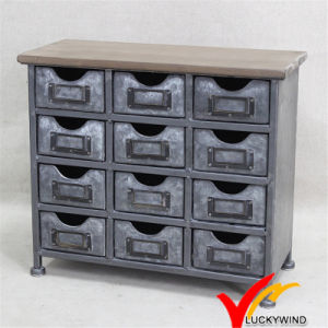 Mini Metal Cabinet Antique Decoration Vintage Industrial Furniture pictures & photos