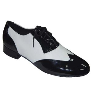 Black&White Patent Leather Men′s Tango/Ballroom Dance Shoes pictures & photos