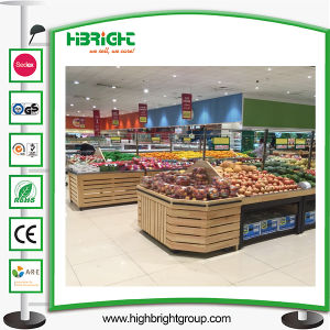 Supermarket Wooden Vegetable and Fruit Display Rack pictures & photos