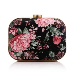 High Quality Printed Flower Box Clutch Bag Lady Evening Handbag pictures & photos