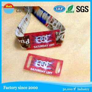 RFID/NFC Silicone/ Tickets Festival Woven Wristbands pictures & photos