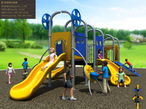 Kaiqi Small Colourful and Fun Children′s Outdoor Playground with Slides (KQ50120A) pictures & photos