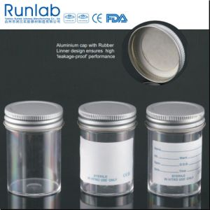 FDA Registered and Ce Approved 60ml Sample Containers with Metal Cap pictures & photos