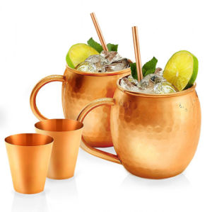 Antique Hammered Moscow Mule Copprt Mug pictures & photos
