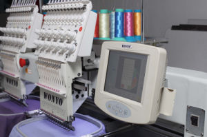 2 Heads 9/12/15 Needles Cap /T-Shirt / Flat Embroidery Machine as Good as Feiya Machine pictures & photos