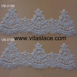Hand Made Corded & Beaded Lace Trim Vb-0186bc
