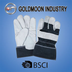 10.5′′ Grey Cow Split Leather Safety Welding Patch Palm Safety Work Glove pictures & photos