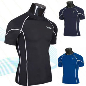 Men′s Sports Casual Compression Tight Tee Shirts pictures & photos