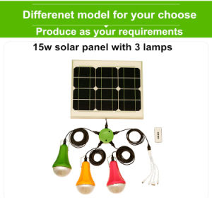 portable Solar Panel System Kit 6W Solar Home Lighting Kit pictures & photos
