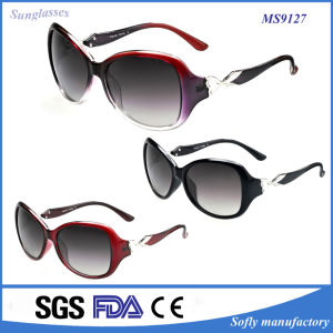 The Most Beautiful Welding Metal Hinges Temple Sunglasses for Women pictures & photos
