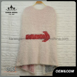 Fuzzy Narrow Pattern Sleeveless Knitted Coats and Jacket pictures & photos