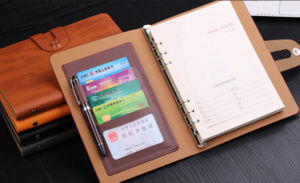 Practical Leather Notebooks with Card Pocket pictures & photos
