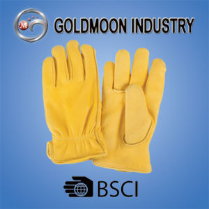 Cowhide Grain Leather Driver Safety Work Glove pictures & photos