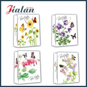 Flowers Butterfly Printed Proffessional Manufacturer Wholesales Cheap Made Paper Bag pictures & photos