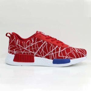 Hot Sell Custom Lace-up Style and Flynit Upper Running Shoes pictures & photos
