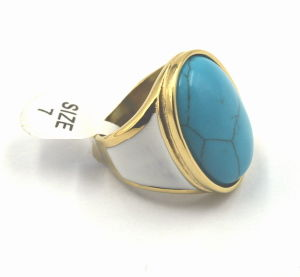 18kt Gold Ring with Gemstone-18*25mm pictures & photos