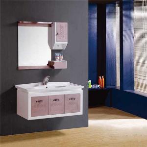 China Wall Mounted PVC Bathroom Wash Basin Cabinet with Mirror ...