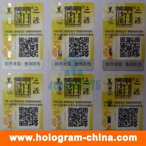 Custom 3D Laser Hologram Stickers with Qr Code Printing pictures & photos