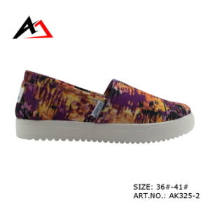 Injection Shoes Wholesale Casual Canvas Colorful for Women Ak325) pictures & photos