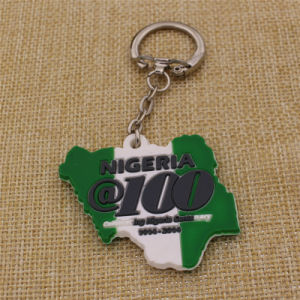 Custom Shape Rubber Soft PVC Keyring for Promotion Event pictures & photos