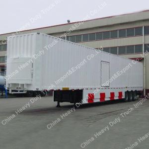 Tri Axle Cargo Semi Trailer Van Truck Semi Trailer pictures & photos