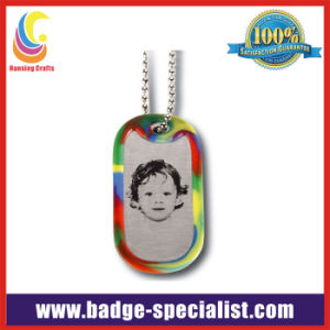 Aluminum Dog Tag with Silicone Protective Cover /Necklace (HS-DT010)