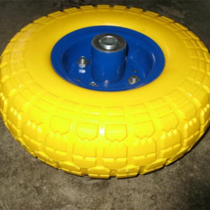 Metal Rim PU Foam Wheels pictures & photos