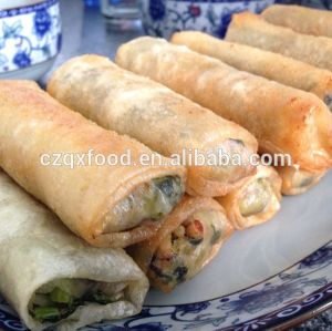 IQF Frozen 100% Hand Made Vegetable 15g/piece Cylinder Spring Rolls pictures & photos