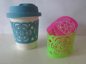 Fashion Colorful Hollow Silicone Cup Sleeve