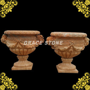 Hand Carved Natural Stone Planter pictures & photos