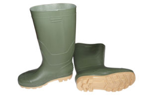 Light Green Color Safety Rain Shoes pictures & photos